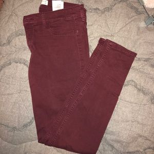 Abercrombie&Fitch maroon jeans